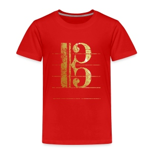 Tenor Clef Toddler T-Shirt (Ancient Gold) - Toddler Premium T-Shirt
