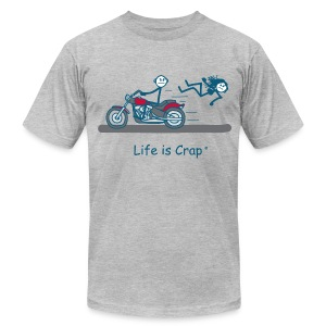 Motorcycle Babe Men's T-Shirt by American Apparel - Men's Fine Jersey T-Shirt
