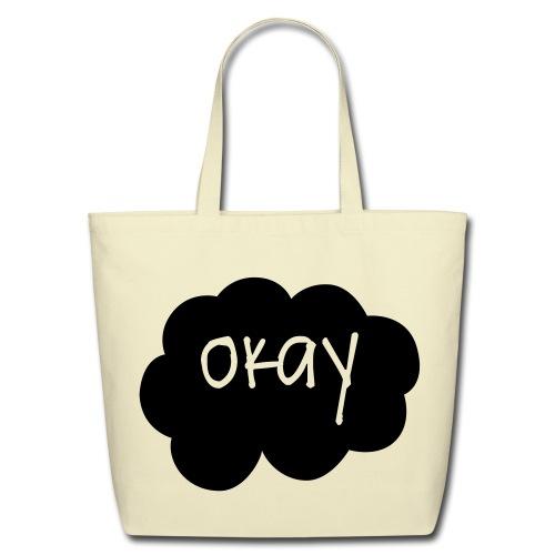 OKAY in black - Tote - Eco-Friendly Cotton Tote