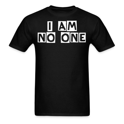Nothing Black/White - Men's T-Shirt