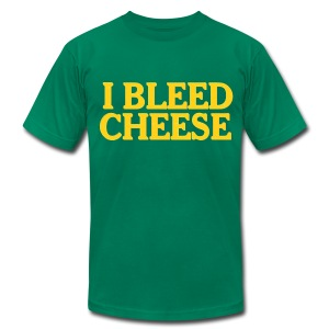 I Bleed Cheese - Men's T-Shirt by American Apparel