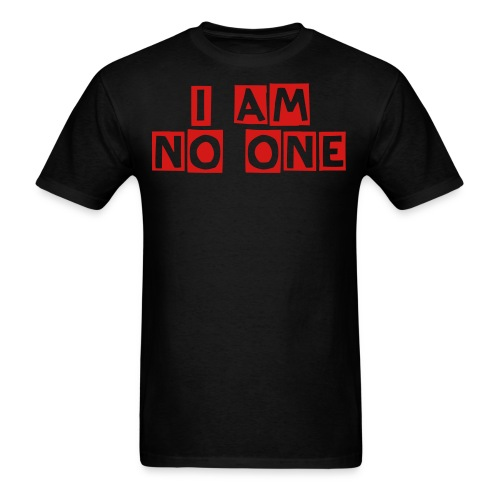 Nothing Black/Red - Men's T-Shirt