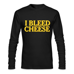 I Bleed Cheese - Men's Long Sleeve T-Shirt by Next Level