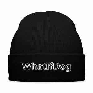 WhatIfDog Beanie - Knit Cap with Cuff Print