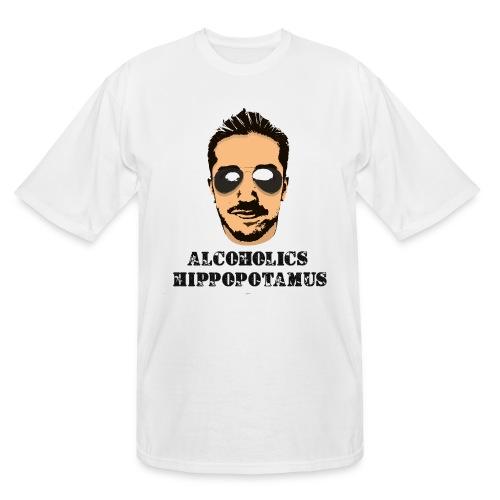 Alcoholics Hippopotamus Tall Shirt - Men's Tall T-Shirt