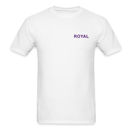 Royal White & Purple - Men's T-Shirt