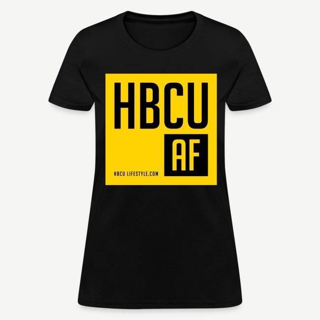 HBCU AF - Women's Black and Gold T-shirt