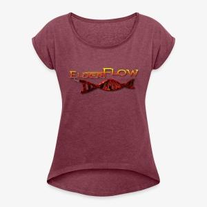 Elixer Flow (Double Helix) - Women's Roll Cuff T-Shirt