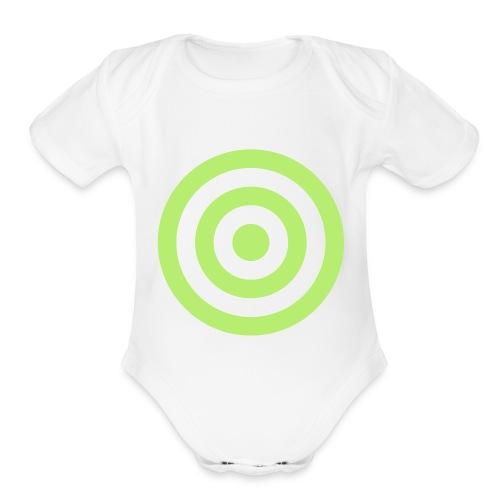 - bullseye - Organic Short Sleeve Baby Bodysuit