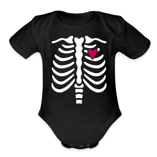 - skeleton - Organic Short Sleeve Baby Bodysuit