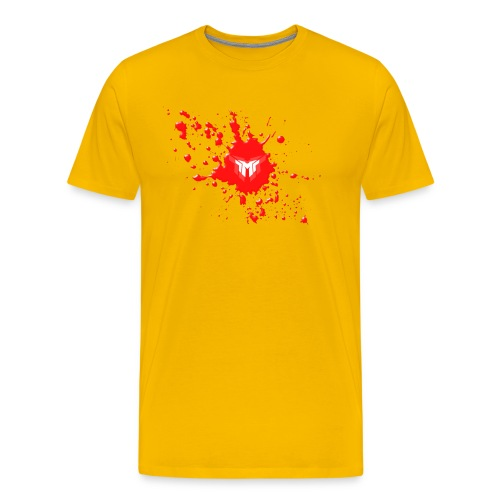 MonzyGames Logo with Blood Splats - Men's Premium T-Shirt