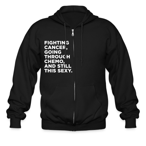 Funny Cancer Chemo Quote - Men's Zip Hoodie
