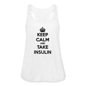 Keep Calm and Take Insulin - Black - Women's Flowy Tank Top by Bella