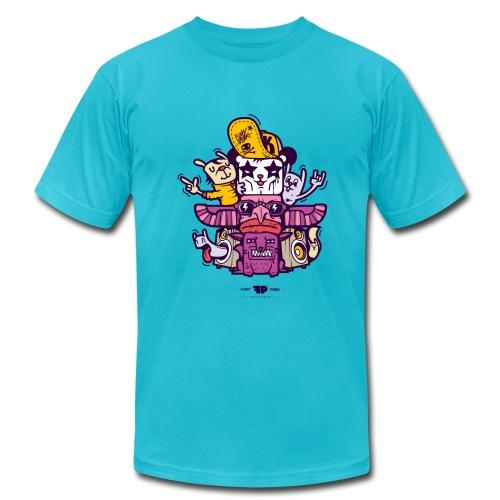 Funky Panda Totem Tee for Men - Men's Jersey T-Shirt
