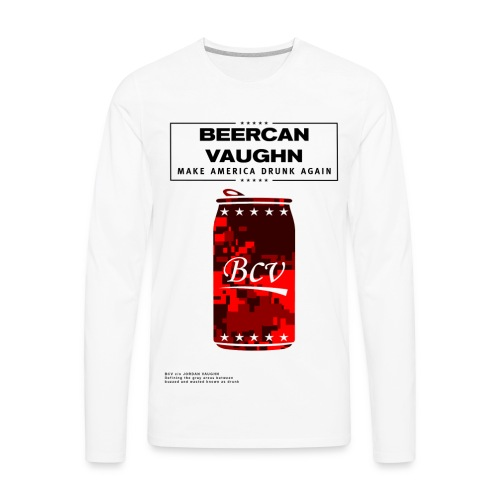 BCV Camo Can  - Men's Premium Long Sleeve T-Shirt