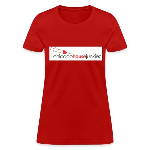 CHICAGO HOUSE JUNKIEZ RED - Women's T-Shirt