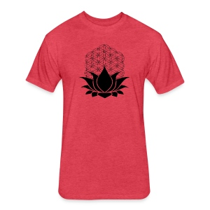 Sacred Lotus Tee - Fitted Cotton/Poly T-Shirt by Next Level