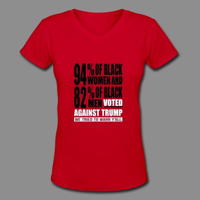 aecd29b4fed1 We tried to warn yall Womens red V-Neck t-shirt.
