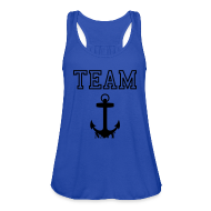 Tanks ~ Women's Flowy Tank Top by Bella ~ Team Navy Tank