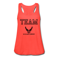 Tanks ~ Women's Flowy Tank Top by Bella ~ Team Ariforce Tank