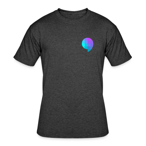 HMU WITH DAT MINIMALIST DESIGN - Men's 50/50 T-Shirt