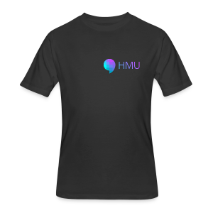 HMU WITH DAT SIMPLE GRADIENT - Men's 50/50 T-Shirt