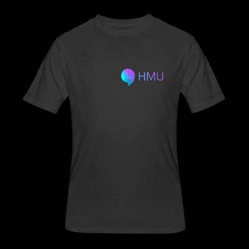 HMU WITH DAT SIMPLE GRADIENT - Men's 50/50 T-Shirt