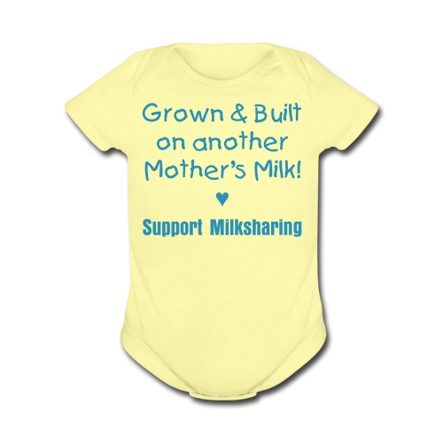 Grown & Built [Text Change Available] - Short Sleeve Baby Bodysuit