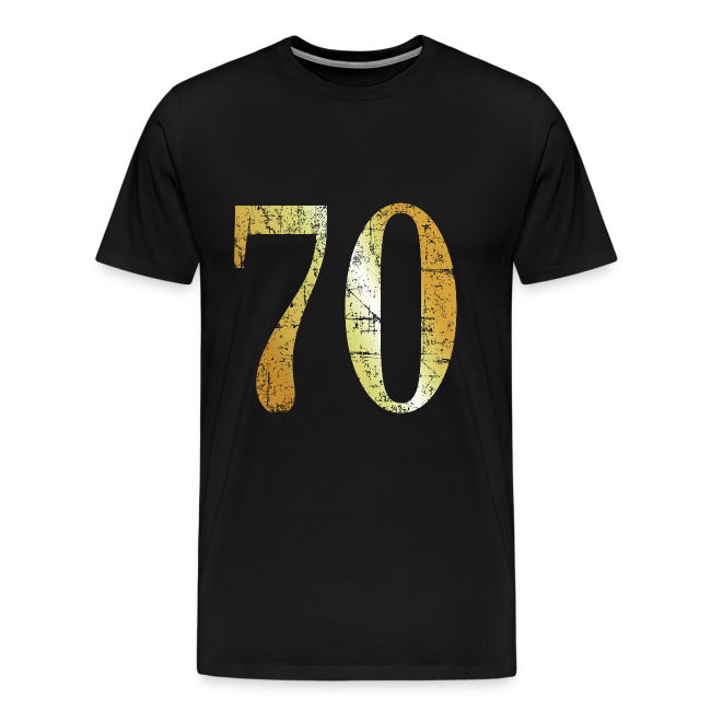 70th Birthday T Shirt Ancient Gold