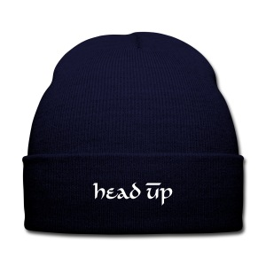 Always Keep Your Head Up Beanie  - Knit Cap with Cuff Print
