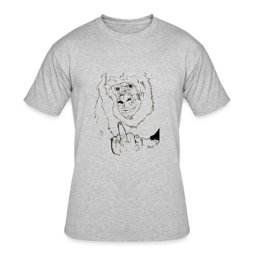 The Fuck Monkey - Men's 50/50 T-Shirt