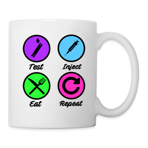 Test Inject Eat Repeat - Coffee/Tea Mug