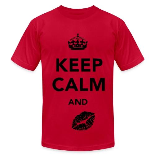 keep calm and kiss - Men's Fine Jersey T-Shirt