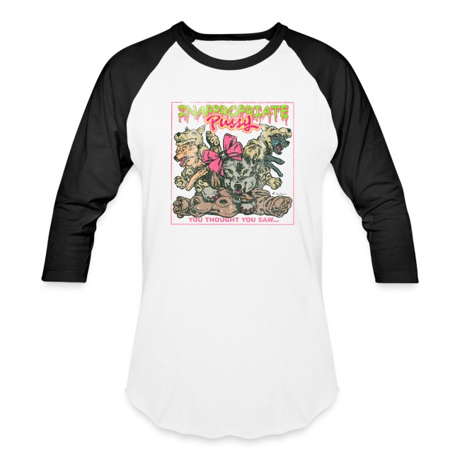 """Inappropriate Pussy """"Vintage"""" Tour T-shirt (Raglan)"""