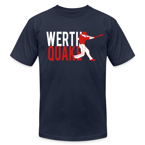 Werthquake Tee - Navy - Men's  Jersey T-Shirt
