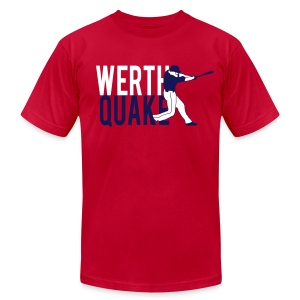 Werthquake Tee - Red - Men's T-Shirt by American Apparel