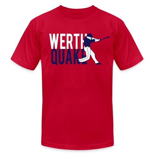 Werthquake Tee - Red - Men's  Jersey T-Shirt