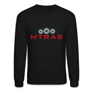 MTRAS Sprockets Metallic Silver & Red Sweatshirt - Crewneck Sweatshirt