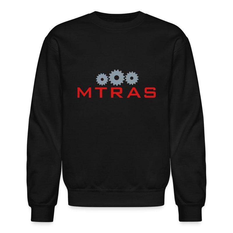 MTRAS Sprockets Metallic Silver & Red Sweatshirt - Crewneck Sweatshirt