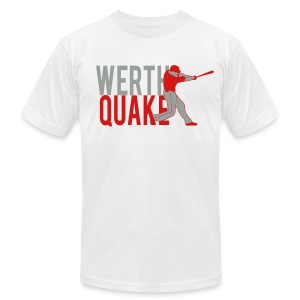 Werthquake Tee - White - Men's T-Shirt by American Apparel