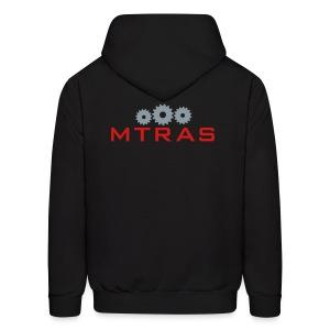 MTRAS Sprockets Metallic Silver & Red Hoodie - Men's Hoodie