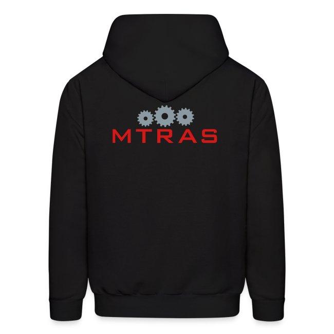 MTRAS Sprockets Metallic Silver & Red Hoodie