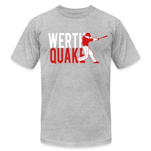 Werthquake Tee - Grey - Men's Fine Jersey T-Shirt