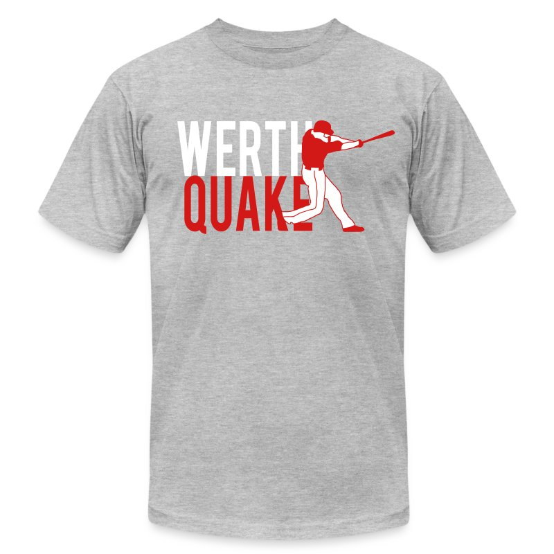 Werthquake Tee - Grey - Men's Fine Jersey T-Shirt