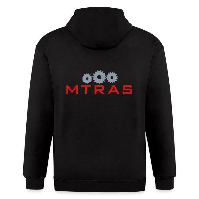 MTRAS Sprockets Metallic Silver & Red Zipper Hoodie