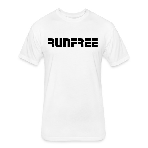 RunFree Black Logo - Fitted Cotton/Poly T-Shirt by Next Level