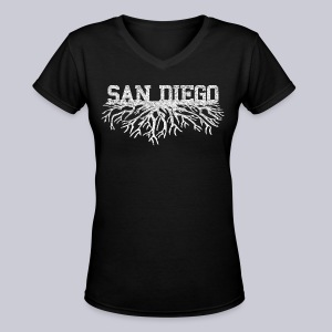 My San Diego Roots - Women's V-Neck T-Shirt
