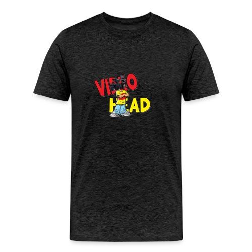 Mens T-Shirt video head logo - Men's Premium T-Shirt