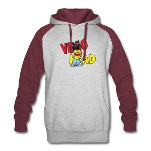 Mens hoodie- video head logo - Colorblock Hoodie