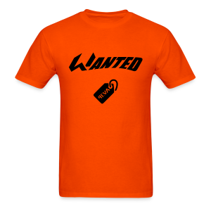 WANTED Tag Black Short-T - Men's T-Shirt